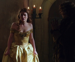 beauty and the beast, belle, and once upon a time image