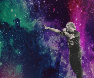 background, galaxy, and ed sheeran image