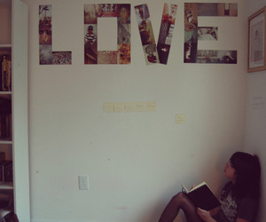 love, photos, and wall image