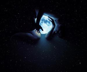 moon, stars, and light image
