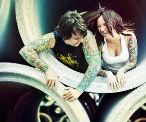 tattoo, girl, and boy image