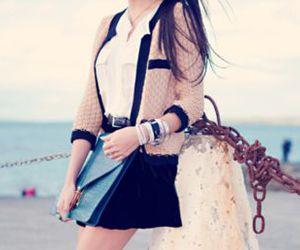 blazer, edgy, and blouse image