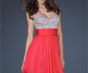 dress, woman, and elegant image