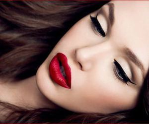 glamour, red lipstick, and gorgeous image