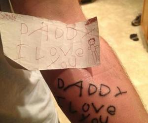 tattoo, daddy, and dad image