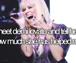 demi lovato, before i die, and quote image
