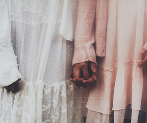 girl, dress, and hands image
