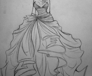 design, sketch, and woman image
