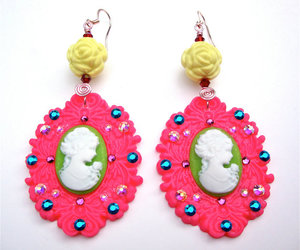 earrings, etsy, and sweet image