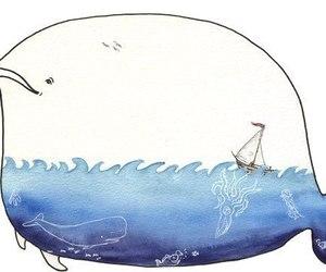 whale, sea, and art image