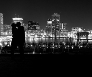 love, black and white, and city image