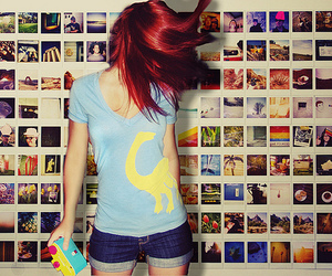 girl, photo, and red hair image