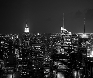 b&w, big apple, and empire state building image