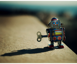 robot and photography image