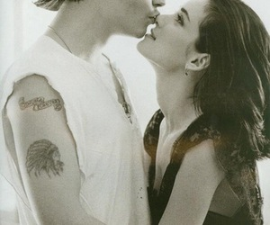 love, johnny depp, and couple image