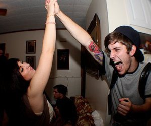 boy, girl, and party image