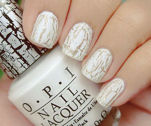 nails, white, and nail polish image