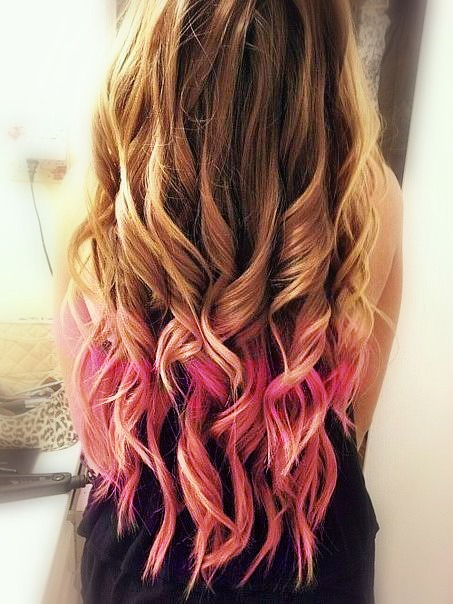 Dip Dyed Hair Tumblr On We Heart It