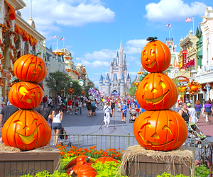Halloween, pumpkin, and disneyland image