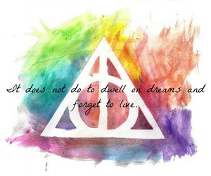 harry potter, deathly hallows, and colors image