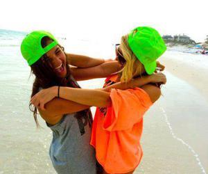 beach, fluor, and girl image
