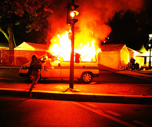 car, chaos, and fire image