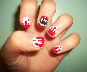 nails, vampire, and Halloween image