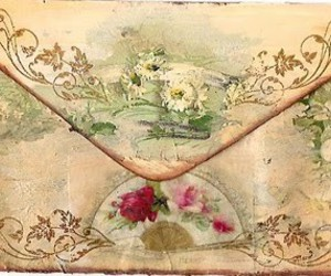 envelope, flowers, and romantic image