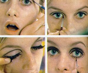 twiggy, make up, and makeup image