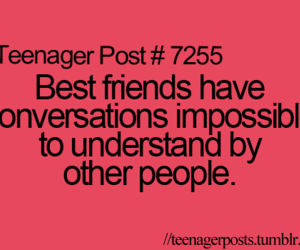 best friends, post, and teenager image