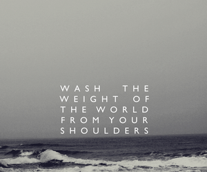 quote, sea, and shoulder image