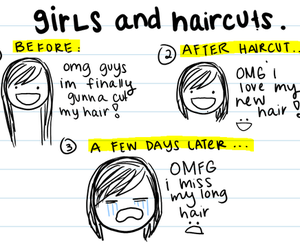 girl, hair, and haircut image