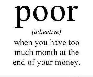 poor, money, and funny image
