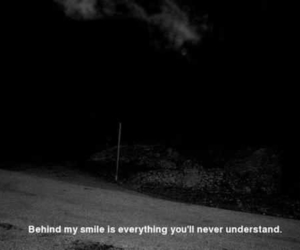 black and white, quote, and smile image