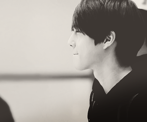 black and white, korean, and boy image