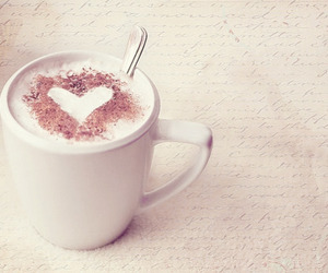 heart, coffee, and cup image