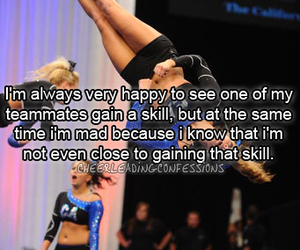 cheer, cheerleadingconfessions, and text image