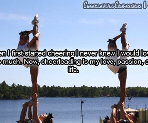 cheerleadingconfessions, cheer, and text image