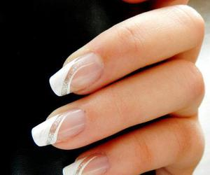 gel, french manicure, and nails image