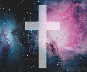 cross, galaxy, and stars image
