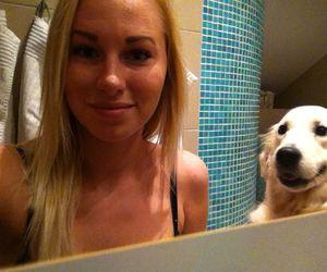 dog, happy, and girl image