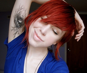 tattoo, girl, and red image