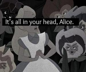 alice, alive, and black and white image
