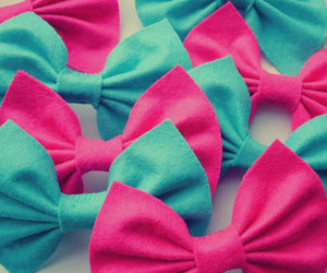 pink, bow, and blue image
