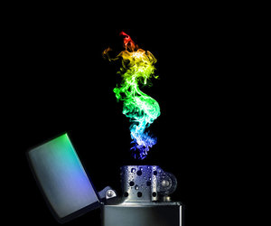 lighter, rainbow, and fire image