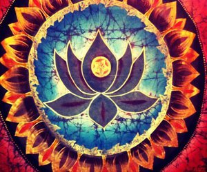 lotus, art, and flower image