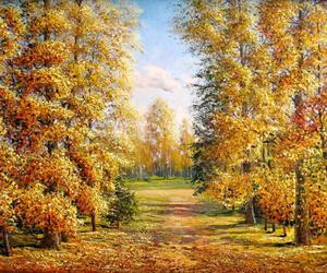 autumn trees and art painting image