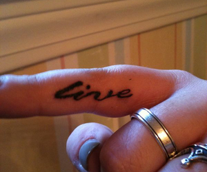 finger, rings, and tattoo image