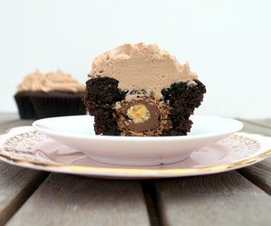 buttercream, cupcake, and nutella cupcake image