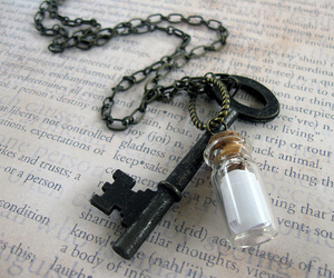 bottle, key, and message image